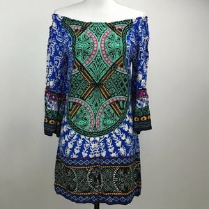 NWT Flying Tomato Boho Tunic Bell Sleeve Dress